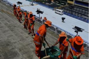 Garis da Comlurb vão contar com reforço de 95 catadores de cooperativas de reciclagem até terça-feira - FOTOS DE DIVULGAÇÃO